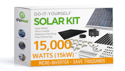 15,250 Watt (15kW) DIY Solar Install Kit w/Microinverters