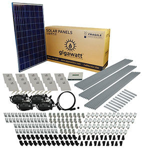 5kw solar panel installation kit 5000 watt solar pv system for 5200 watt 5kw diy solar install kit w microinverters
