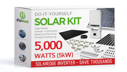 5000 Watt (5kW) DIY Solar Install Kit w/SolarEdge Inverter