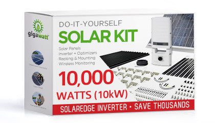 10140 Watt 10kw Diy Solar Install Kit W Solaredge