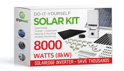 8060 Watt (8kW) DIY Solar Install Kit w/SolarEdge Inverter