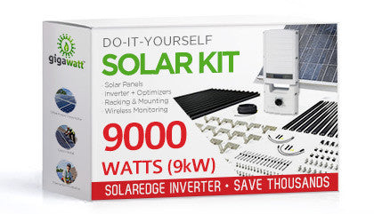 9100 Watt 9kw Diy Solar Install Kit W Solaredge Inverter