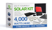 Load image into Gallery viewer, 4000 Watt (4kW) DIY Solar Panel Kit w/String Inverter