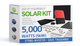 5000 Watt (5kW) DIY Solar Panel Kit w/String Inverter