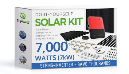 7000 Watt (7kW) DIY Solar Install Kit w/String Inverter
