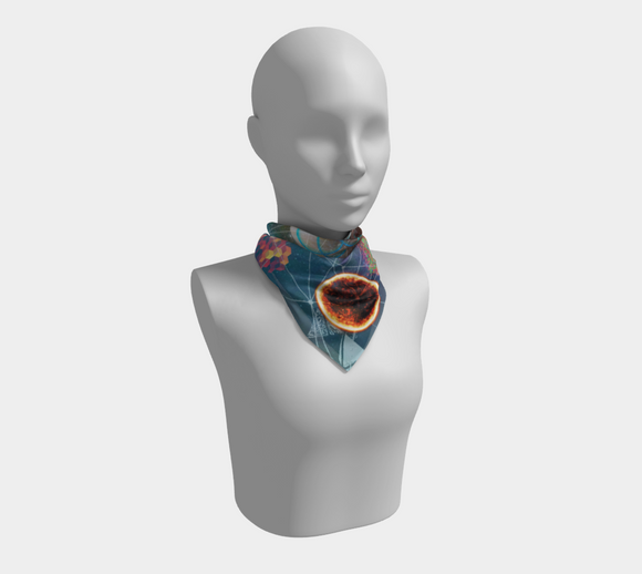 Planets Align Square Scarf