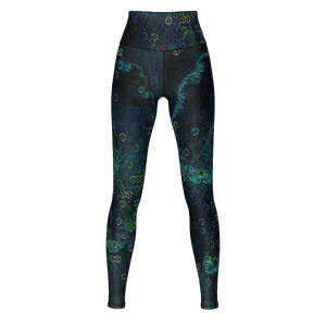 Cubic Vortex Yoga Leggings