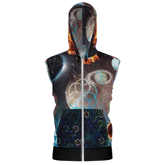Planets Alighn Hooded Zip-up Vest