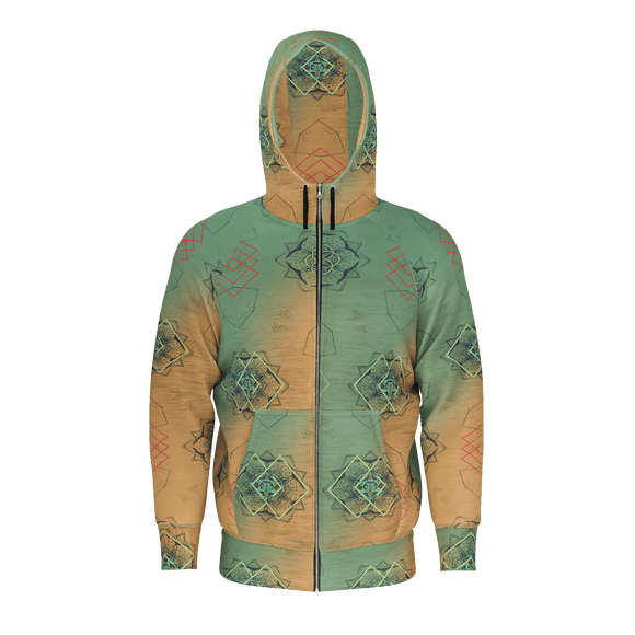 Ombre Horizon Men's Zip-up Hoodie