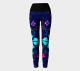 Align My Diamonds Splatter Yoga Leggings (6 Band Colors)