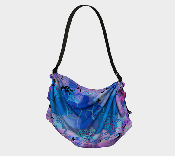 Flying Over Hexagons Origami Tote