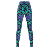 Neon Windmills Yoga Leggings