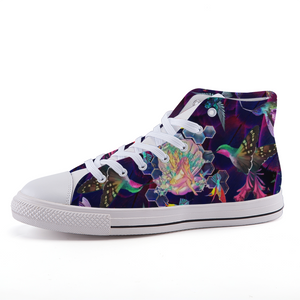 """Mother Of Hummingbirds"" High-top Canvas Shoes"