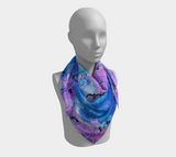 Flying Over Hexagons Square Scarf