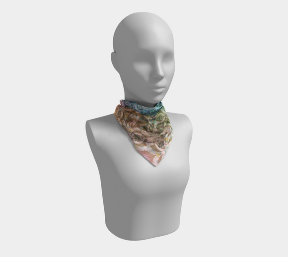 Smell the Roses (invert) Square Scarf