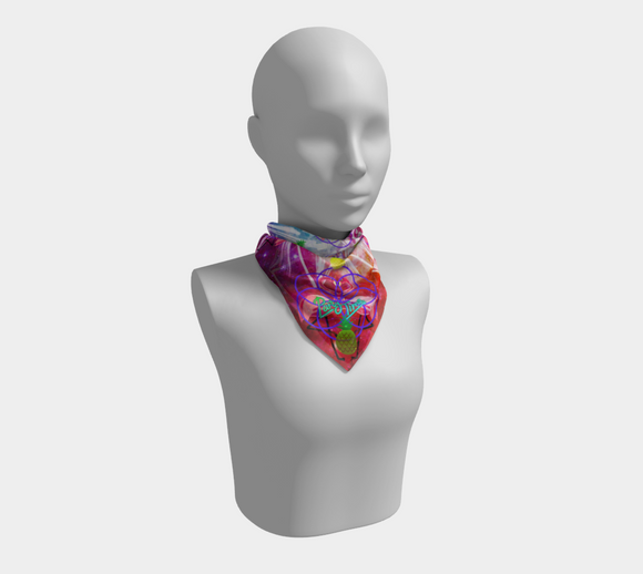 Flamingo Space Party Square Scarf