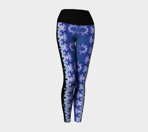 Waterfall Fractal Yoga Pants (Black Band)