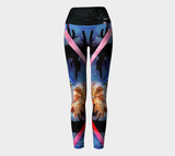 Cactus Night Yoga Leggings (5 Band Colors)