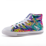 Unicorns Poop Rainbow Swirl High-top Sneakers