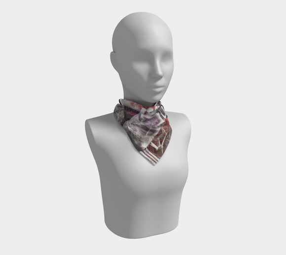 Oh No, I'm Lost In the Woods Square Scarf
