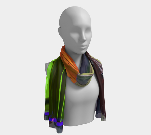 Grounded & Free (Sliced) Long Scarf