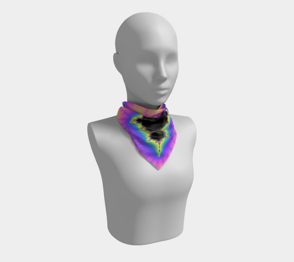 Neon Fractal Square Scarf