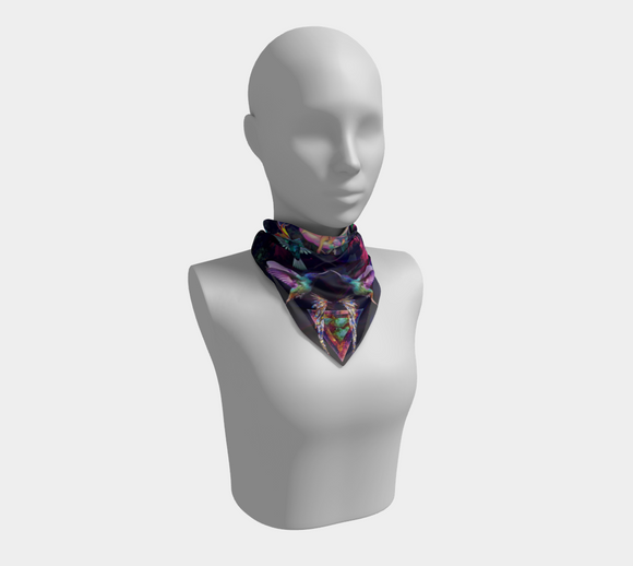 Mother Of Hummingbirds Square Scarf