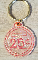 25¢ Shopping Cart Key Fob