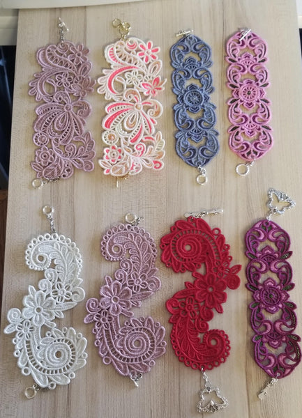 Lace Bracelets and Cuffs