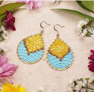 Pre-order: Beaded Droplet Earrings