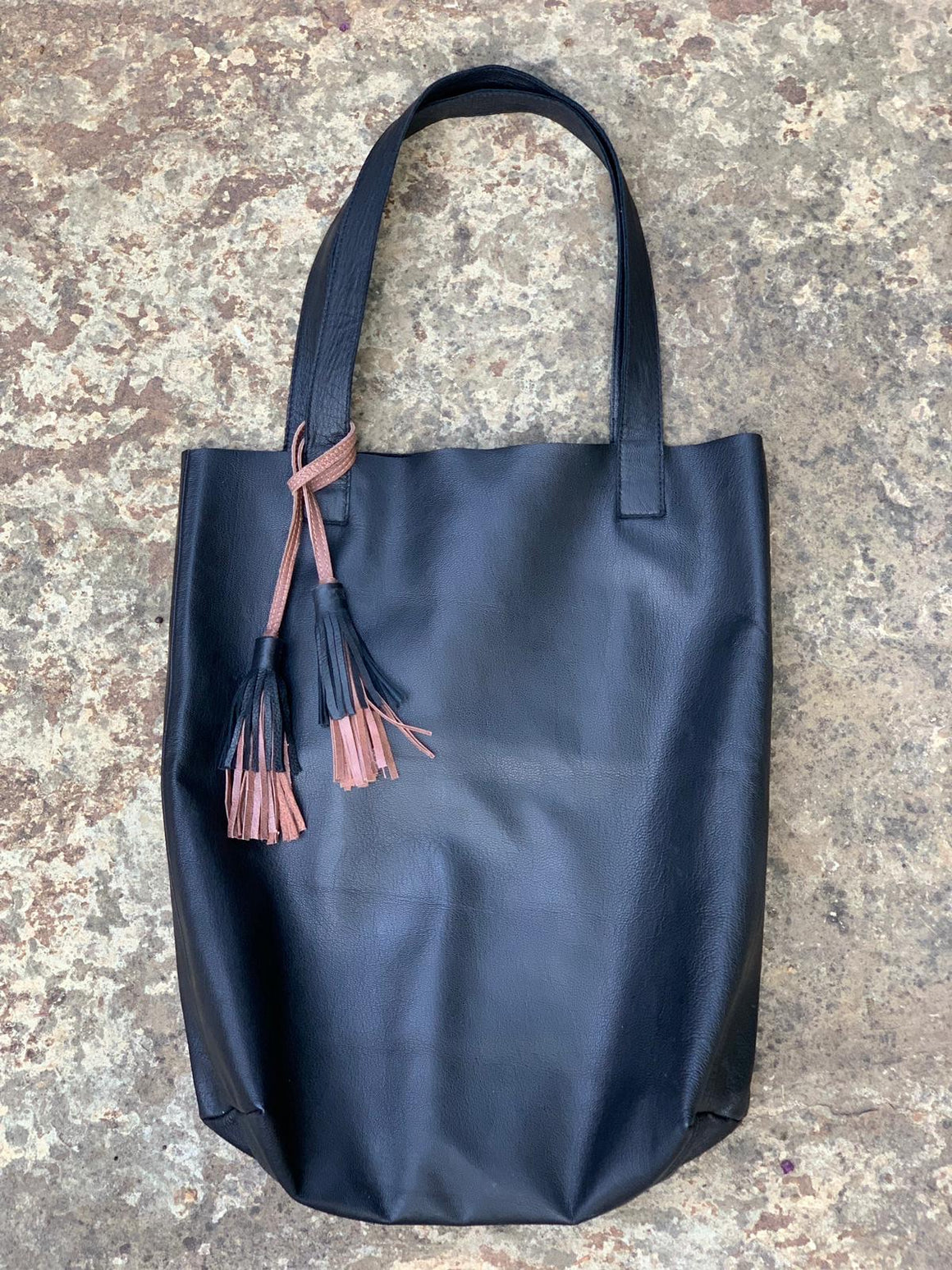 Bali Simple Tote with Tassels: PRE-ORDER (Ships 11/18 - 11/25/19)