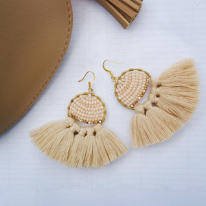 Natural Tassel Earrings