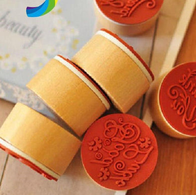 Flower Pattern Rubber Stamp