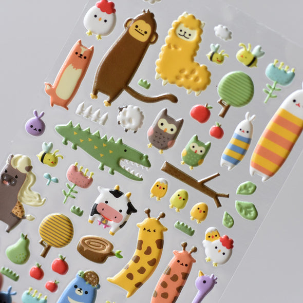 3D Animal Stickers