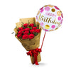 12 Red Roses - Birthday Bundle