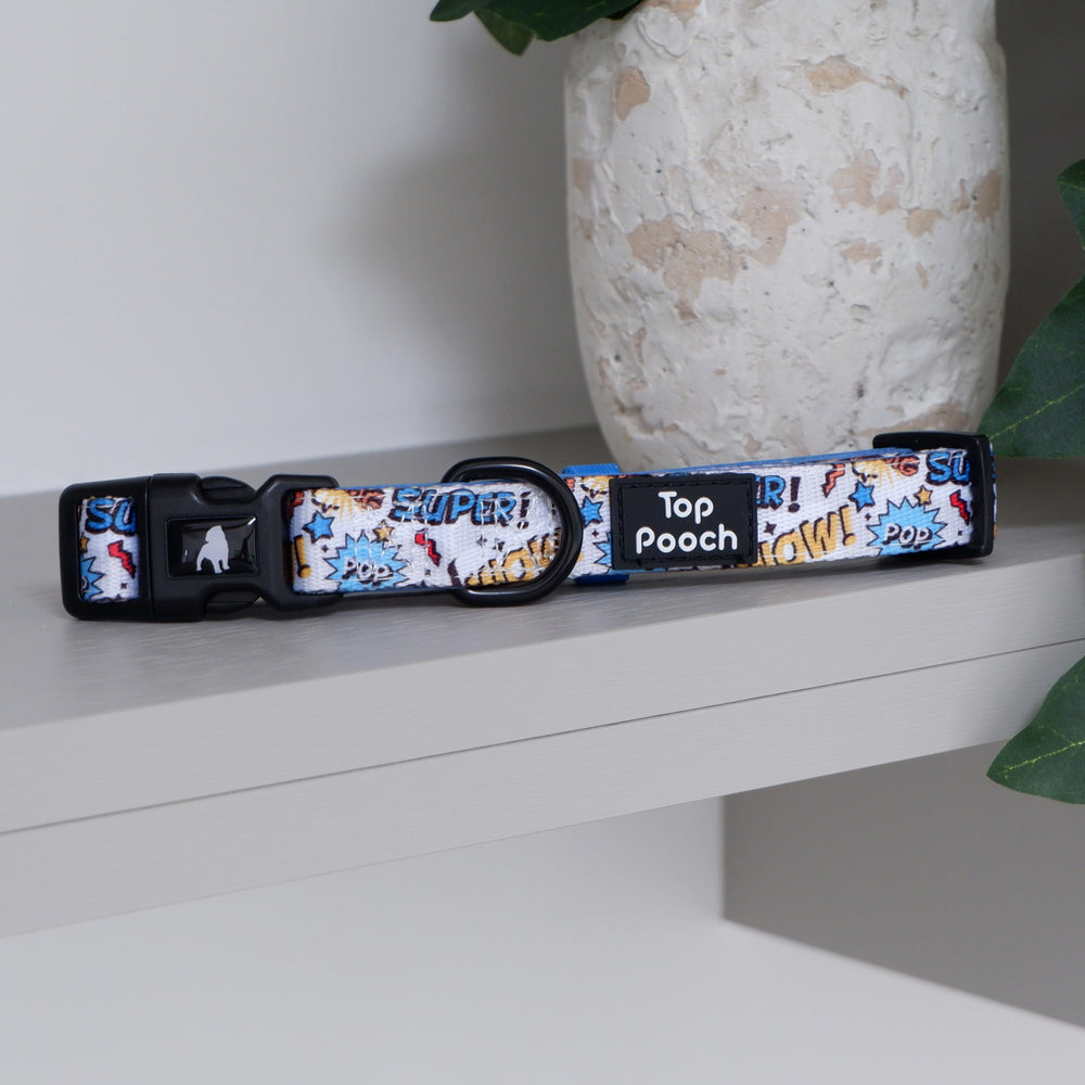 Superhero Dog Collar (Large Left)