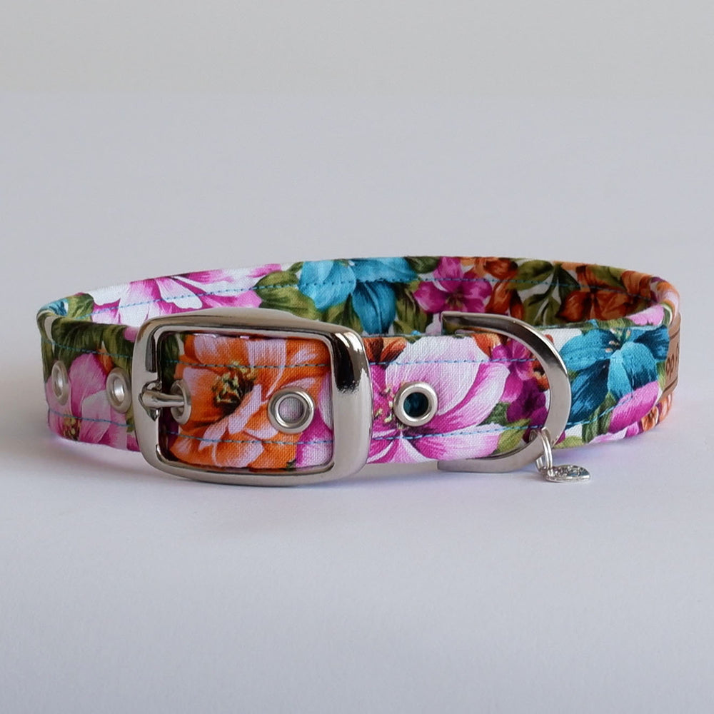 Floral Bloom Dog Collar | Handmade Dog Collar