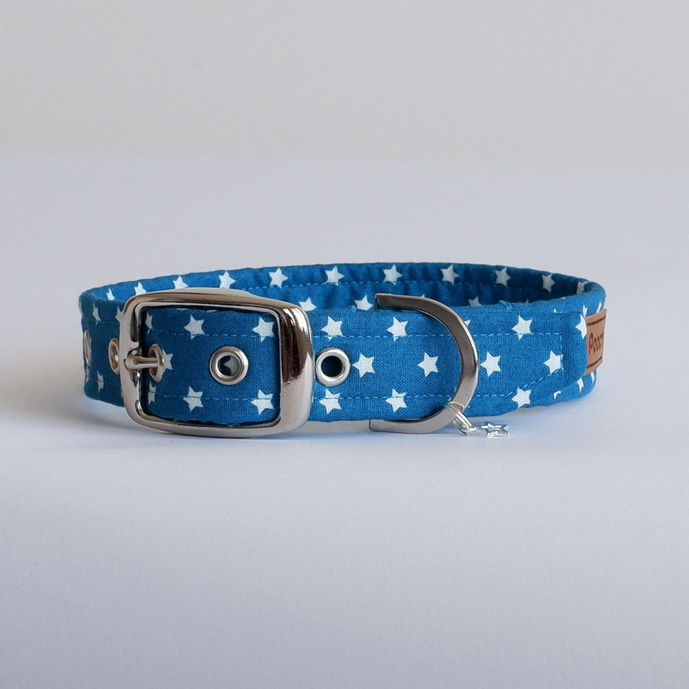 Blue Stars Dog Collar | Handmade Dog Collar