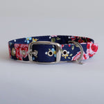 Vintage Floral Dog Collar | Rose Handmade Dog Collar
