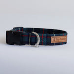 Forest Green Tartan Dog Collar