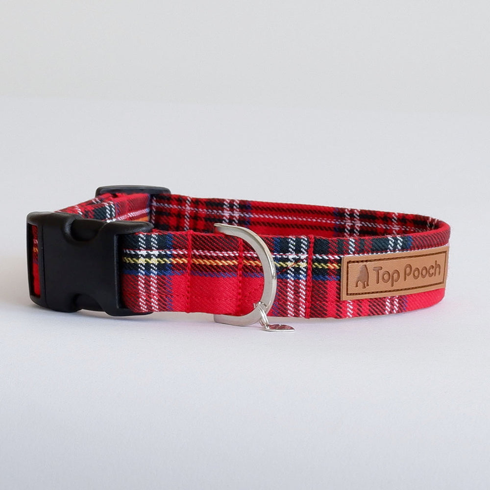 Royal Stewart Tartan Dog Collar
