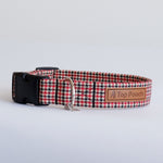 Houndstooth Red Dog Collar
