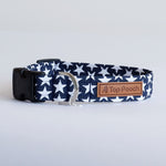 Navy Stars Dog Collar