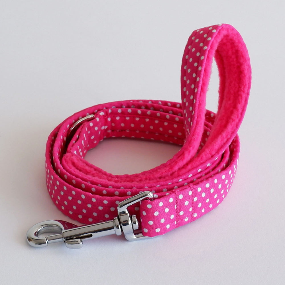 Polka Pink Dog Lead