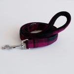 Wine Tartan Dog Lead