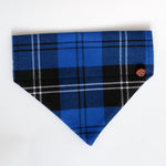 Royal Blue Tartan Dog Bandana
