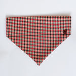 Houndstooth Red dog bandana | Handmade Dog bow tie
