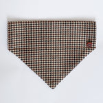 Houndstooth Brown dog bandana | Handmade Dog bow tie