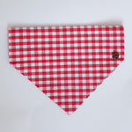 Gingham Red Dog Bandana