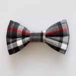 Grey Tartan Dog Bow Tie